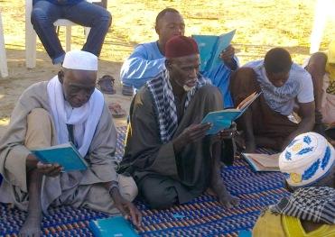 Imams giving prayers